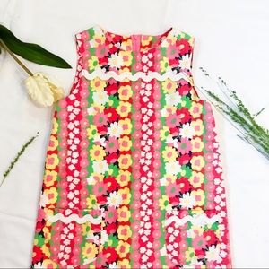 Lilly Pulitzer Girls Floral Dress Multicolor